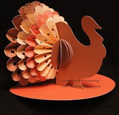 Create this ADORABLE turkey using the Close to my Heart Artiste Cricut Cartridge
