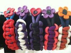 paracord bracelets for GIRLS!! Cute!