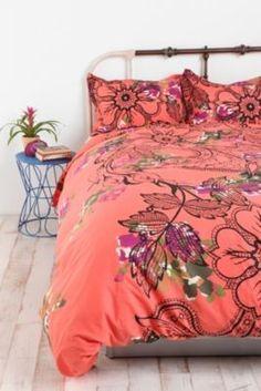 Pretty floral bedding!