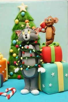 Tom & Jerry from Bake a Chistmas Wish :-D Cake by Rose-Maries Cakes & Sugarcraft