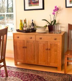 Mission Style furniture. Modern mission sideboard. Perfect for your mission style decor.