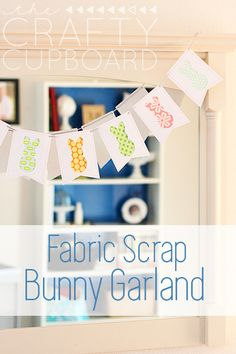 Easter Bunny Garland with Fabric Scraps
