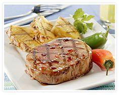 grill tonight pineapples porkchop food fieri island islands pork chop ...