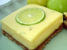 CREAMY LIME BARS -- THESE ARE AMAZING!!