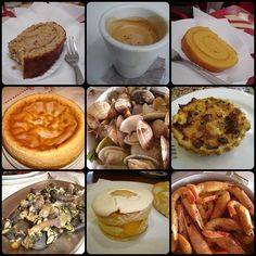 Portuguese seafood, cakes and coffee