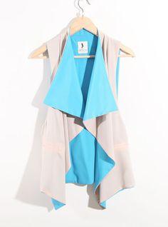 adore this - peek a boo blue top.