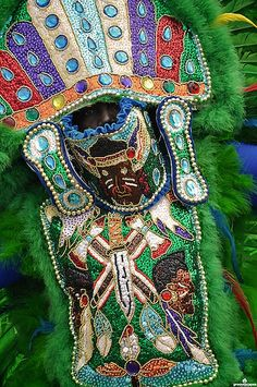 Mardi Gras Indian in New Orleans on Super Sunday. (Photo from flickr, courtesy of Groovescapes)
