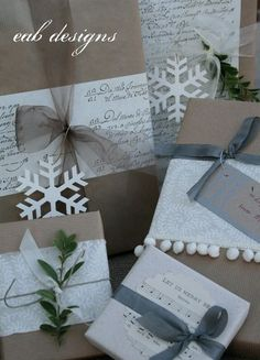 gift wrap ideas...