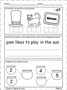 March Morning Work - Kindergarten Language arts and Math daily - Common Core - 20 pages - 4 weeks - $