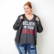 Save up to 60% off during the Denim Workshop Plus: Graphic Apparel event on #zulily today!