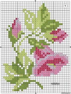 . 76 528x700, miniatur, charts, floral cross stitch patterns, crossstitch, crosses, 127kb, cross stitches, flower