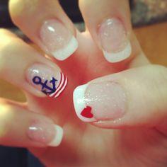 Sailor Nails - sweet & simple sailor nails design, nail sweet, nail idea