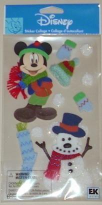 "Jolee's Boutique Grande Disney ""Mickey Snowman"" Scrapbook Stickers Buy 1 Get 1 FREE Ship FREE"