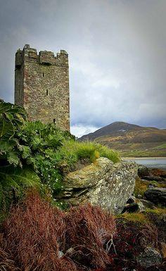 Granuaile's Tower, Kildavnet, Achill Island, Co. Mayo, Ireland by Harry Ormond