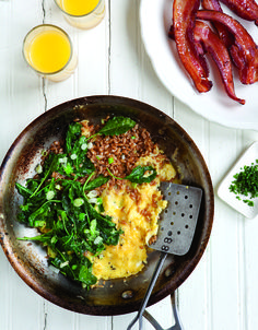 "Can you guess the whole grain that makes this ""greens and grains scramble"" D-E-L-I-C-I-O-U-S? Get the recipe here:  http://www.womenshealthmag.com/nutrition/whole-grain-recipes?fullpage=1?cm_mmc=Pinterest-_-womenshealth-_-content-food-_-wholegrainbreakfastrecipes"