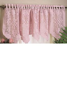 Hearts & Flowers Valance...Can also make it longer if you know your stitches...Free Pattern