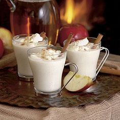 Hot Cider Nog | Apple cider combines with eggnog for a delicious holiday twist. | SouthernLiving.com