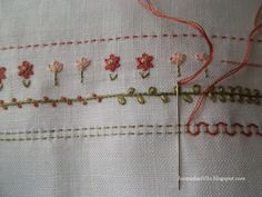 pillowcas, border stitch, craft, embroideri border, broderi