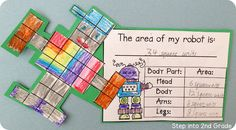 This freebie is perfect for teaching students area in a fun way.  Every robot is unique!