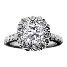 Cushion Diamond Vintage Crown Style Engagement