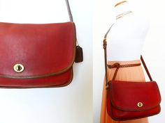 Vintage Coach City Bag 9790 Large Leather Camera by hanniandmax, $119.00