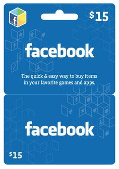 Facebook launches Facebook Gift Card  Difference between Facebook Credits Gift Card & Facebook Card #facebook #eCommerce #Gift