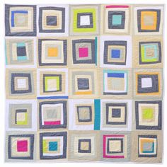 Lopsided Squares Quilt from 1, 2, 3 Quilt by Ellen Luckett Baker.