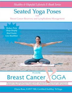 Healthy Lifestyle Yoga Books For Breast Cancer & Lymphedema: Seated Yoga Poses For Breast Cancer & Lymphedema Book, $8.00 from HP MagCloud