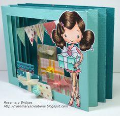 greet farm, birthday card, 3d frame, diorama card, frames