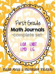 Math Journals: First Grade