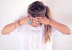 pretty hair and rings