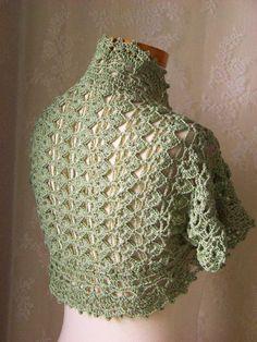 Free+Crochet+Pattern+Shrug+Bolero | Crochet pattern Short sleeved shrug PDF by Berniolie on Zibbet