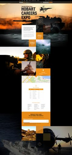 Hobart Careers Expo Website for the Australian Defence Force