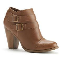 LC Lauren Conrad Two Buckle Ankle Boots - Women