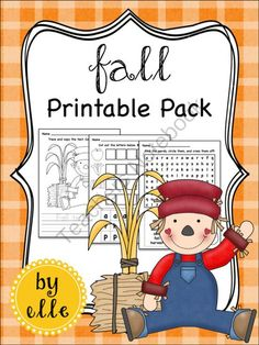 Fall Math and Literacy Printable Pack from Elementary Elle on TeachersNotebook.com -  (15 pages)  - Fall math and literacy activities and printables for primary students! Fall is here and your students will love these fall themed math and literacy activities!