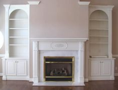 ****Fireplace with bookshelves****