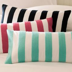 Cottage Stripe Pillow Covers | PBteen