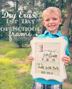 Dry Erase First Day of School Frame by @Felicia Davidsson Carter (GoGrahamGo.com) #Michaelsbts