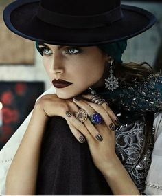 Hats Karlina Caune - Black Hat For Vogue