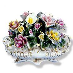 Capodimonte Floral Centerpieces | Capodimonte Flower Centerpiece W/ Lily