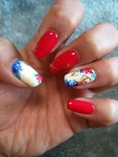 nails #nail #unhas #unha #nails #unhasdecoradas #nailart #gorgeous #fashion #stylish #lindo #cool #cute #fofo #floral #flowers #flores #vermelho #red