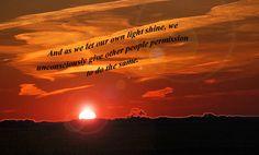 Sunset Quotes | Sunset w/ Nelson Mandela quote