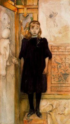 Carl Larsson - Suzanne 1894, suzann, larsson 18531919, larsson art, artist carl, carl larsson, carllarsson, portrait, illustr