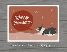 Corgi Christmas Card - Digital Print - Instant Digital Download #corgi