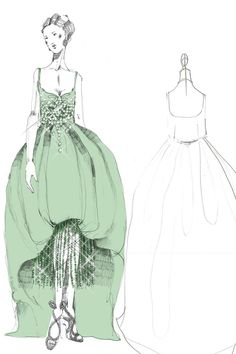 Miuccida Prada has unveiled four sketches of her costumes for The Great Gatsby! Prada worked with costume designer Catherine Martin to create over 40 different looks for the film, each inspired by styles from the Prada and Miu Miu archive.