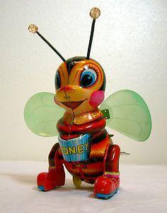 Honey bee wind-up toy.