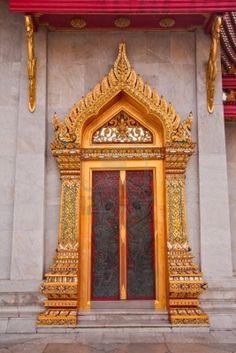 Thai Style Temple's Door