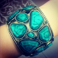 chunky turquoise blue stone bracelet from inspire boutique