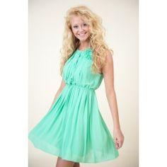 Glowing Places Dress-Mint - $48.00