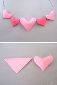 puffy 3d paper hearts